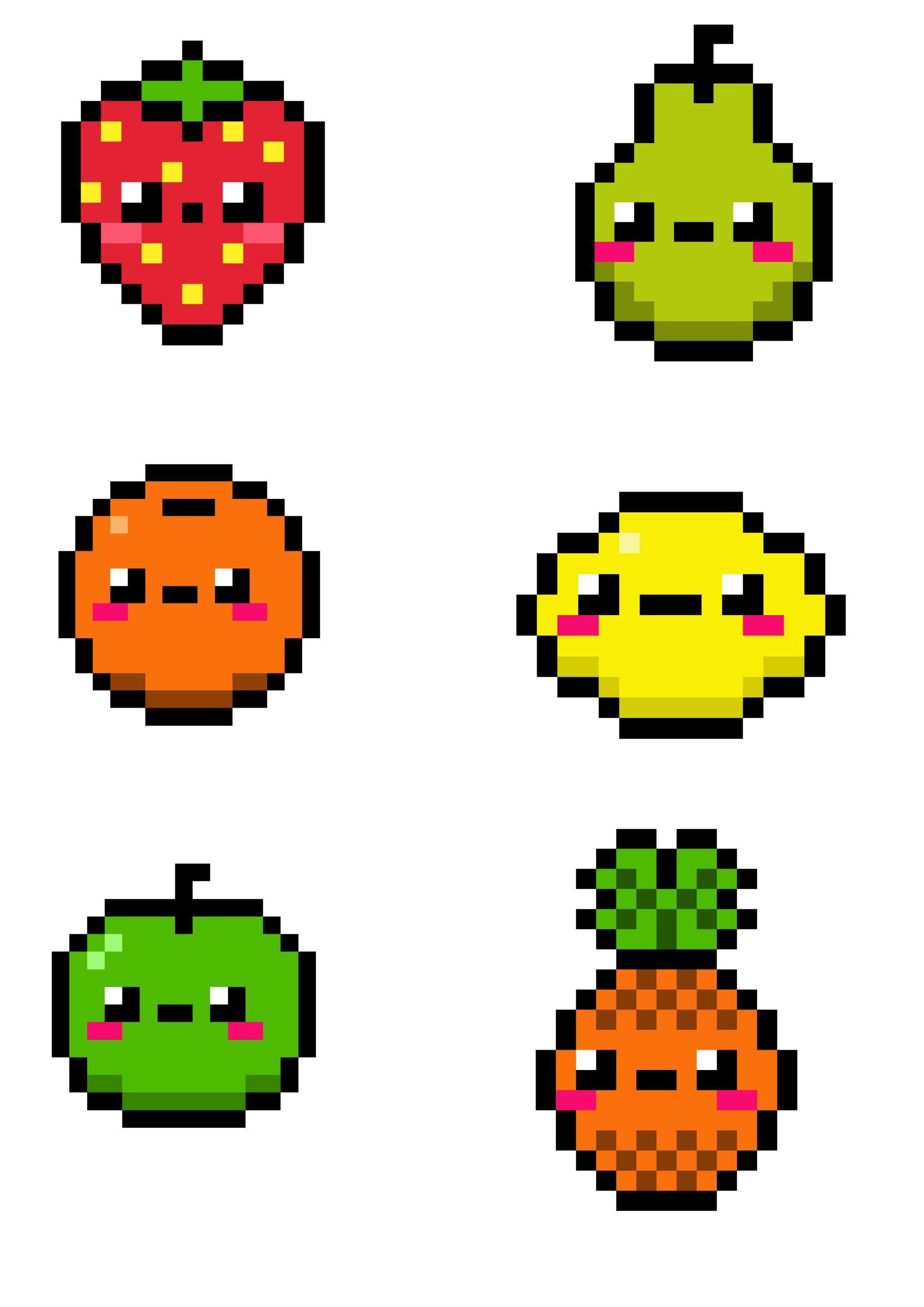 Pixel Art Facile Nourriture 31 Idees Et Designs Pour Vous Inspirer En Images